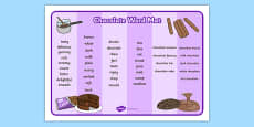 Chocolate Word Mat