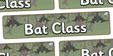 Bat Themed Classroom Display Banner