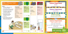 EYFS Science Experiments Resource Pack to Support Teaching on Harry and the Bucketful of Dinosaurs