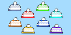 Editable Self Registration Labels (Woolly Hats)
