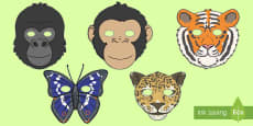 Jungle and Rainforest Role Play Masks
