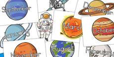 Space Months Of The Year (Australia)