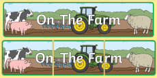 On The Farm Display Banner