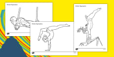 The Olympics Artistic Gymnastics Colouring Sheets