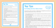 Top Tips Reading with Your Child at Home
