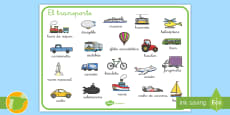 Tapiz de vocabulario: El transporte