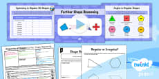 PlanIt Y5 Properties of Shapes Lesson Pack Regular and Irregular Polygons (2)