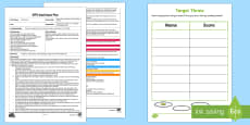 * NEW * EYFS Target Throw Number and Recording Activity Adult Input Plan and Resource Pack