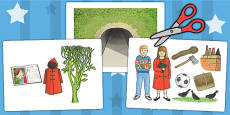 Display Picture Cut Outs to Support Teaching on The Tunnel