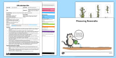 Beanstalk Measuring Game EYFS Adult Input Plan and Resource Pack to Support Teaching on Jasper's Beanstalk