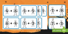 Big and Little Skeleton Number Bonds to 10 to Support Teaching on Funny Bones