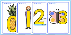 Number Shapes Posters