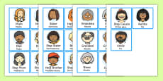 Family Members Role Play Badges Spanish Translation