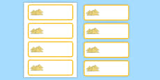 Ancient Egypt Themed Editable Labels