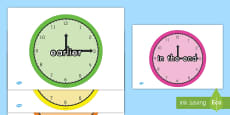 * NEW * Time Conjunctions Display Posters