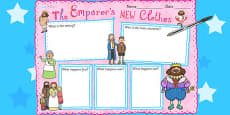 The Emperor's New Clothes Book Review Writing Frame