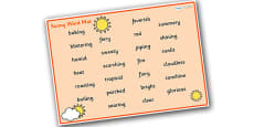 Weather and Seasons Sunny Word Mat