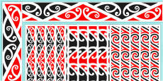 Kowhaiwhai Pattern Display Borders