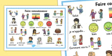 Getting to Know You Word Mat French