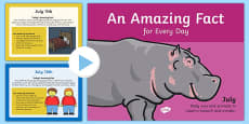 An Amazing Fact a Day July PowerPoint