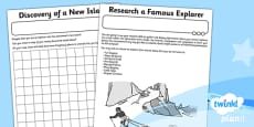 History: Great Explorers KS1 Unit Home Learning Tasks