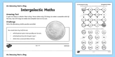 Intergalactic Maths Activity Sheet