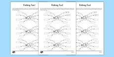 Fishing Fun Number Bonds to 20 Activity Sheet