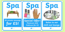 The Spa Role Play Posters
