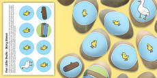 Five Little Ducks Story Stones Image Cut Outs