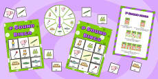 p Sound Bingo Game with Spinner
