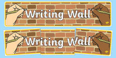 Writing Wall Display Banner