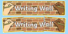Writing Wall Display Banner