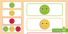 * NEW * Child Self-Assessment Smiley Faces Labels