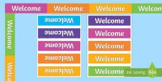 Welcome Display Border