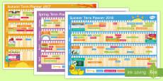 2017 - 2018 Academic Year Calendar Display Pack