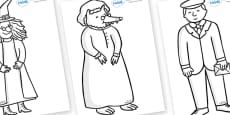Story Colouring Sheets to Support Teaching on The Jolly Postman