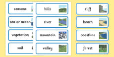 Physical Geography Word Cards