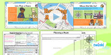 PlanIt - Geography Year 2 - Magical Mapping Lesson 2: Routing Around Lesson Pack
