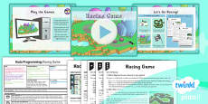 PlanIt - Computing Year 6 - Kodu Programming Lesson 6: Racing Game Lesson Pack