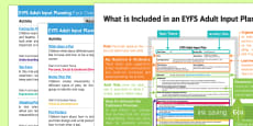 EYFS Pets Adult Input Planning and Resource Pack Overview