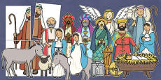 Nativity Large Display Cut Out Pack