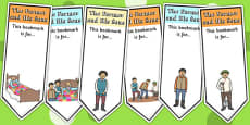 The Farmer and His Sons Editable Bookmarks