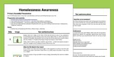 Homelessness Awareness Assembly Script