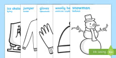 Winter Topic Colouring Posters English/Polish