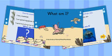 EYFS Under the Sea What Am I Interactive PowerPoint Game With Photos