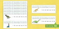 Alphabet Strips to Support Teaching on Harry and the Bucketful of Dinosaurs