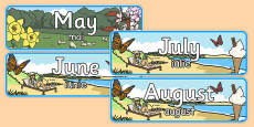 Months of the Year With Seasons Theme Display Posters Romanian Translation