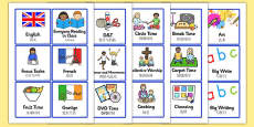 Visual Timetable for KS1 Mandarin Chinese Translation