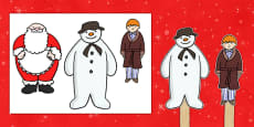 Stick Puppets to Support Teaching on The Snowman