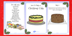 Christmas Cake Recipe Cards